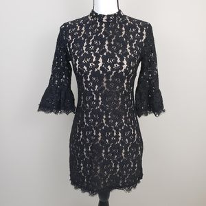 Forever 21 Bell Sleeve Floral Lace Sheath Dress